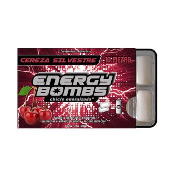 Energy Bombs son chicles energéticos que te ayudan a combatir la fatiga y el cansancio.