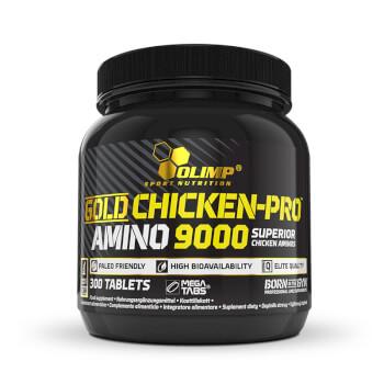 Gold Chicken-Pro Amino 9000 aporta aminoácidos hidrolizados de pollo.