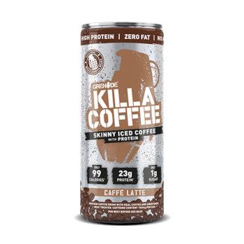 Grenade Killa Coffee es un delicioso batido con sabor a café helado.