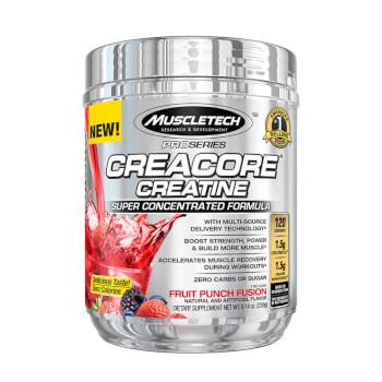 Creacore Creatine Pro Series contiene creatina HCL y monohidrato.