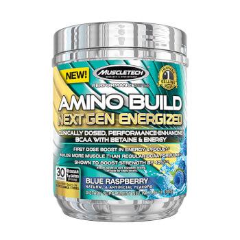 Amino Build Next Gen Energized contiene aminoácidos ramificados indicados para la construcción y