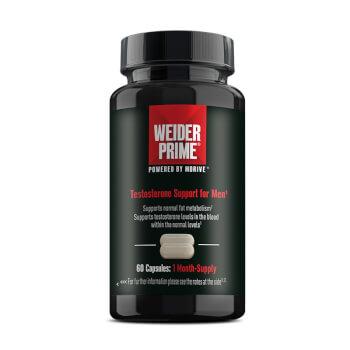 Weider Prime potencia la producción natural de testosterona.