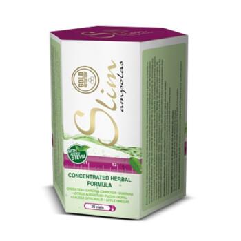 Slim Ampollas es un suplemento con extractos herbales para perder peso