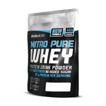 Nitro Pure Whey es una mezcla de concentrado y aislado.