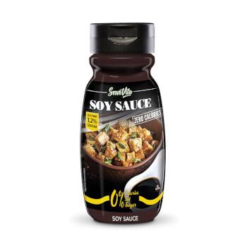 La salsa baja en calorías de soja de Servivita es ideal para acompañar platos de carne, pescados