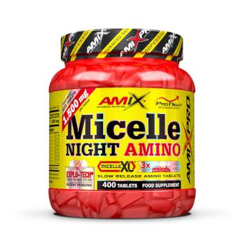 Micelle Night Amino es un suplemento que se toma por la noche para no perder masa muscular.