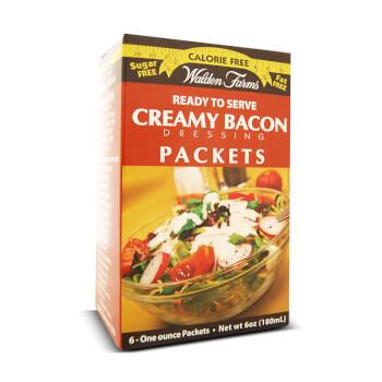 Salsa con sabor a bacon ahumado Creamy Bacon Dressing sin grasas ni calorías