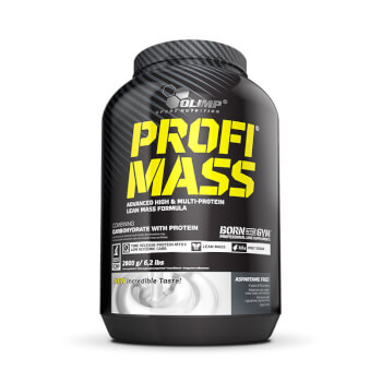 Profi Mass es una mezcla concentrada de proteínas e hidratos de carbono.