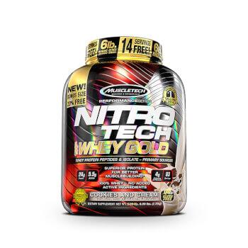 Nitrotech 100% Whey Gold fórmula de proteína de suero de alta calidad.