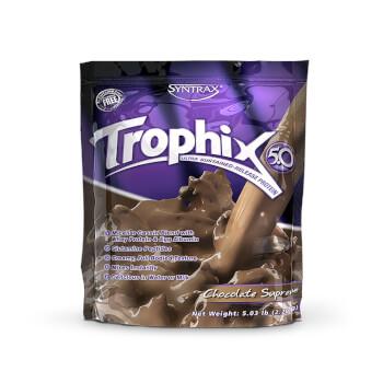 Mantén tus músculos nutridos durante horas con Trophix la nueva proteína de Syntrax.