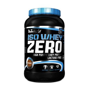 Iso Whey Zero de Biotech USA es una proteína de suero de leche sin gluten ni lactosa.