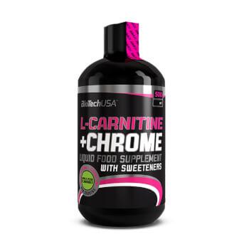 Rinde al máximo en tus entrenamientos con L-Carnitina + Cromo de Biotech USA.
