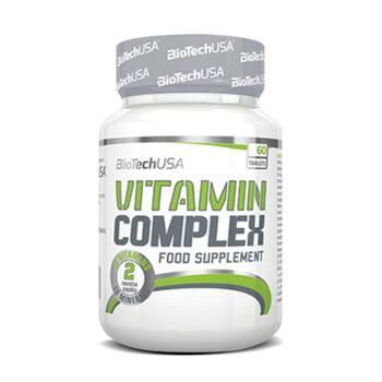 Vitamin Complex, fórmula de 13 vitaminas y 10 minerales.