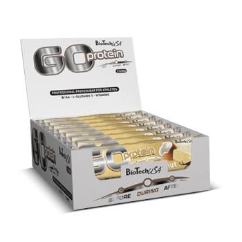 Las barritas Go Protein te aportan hasta 20g de proteínas con L-glutamina y BCAA's.