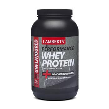 Whey Protein de Lamberts es una mezcla de proteínas de suero con magnesio.