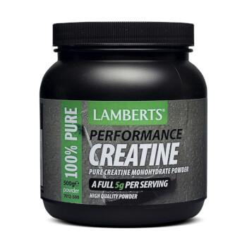 Creatina de Lamberts está en formato en polvo y mejora tu rendimiento y volumen muscular.