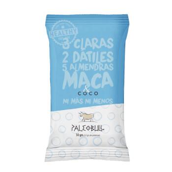 Paleobull Barrita de Coco y Maca son 100% naturales sin gluten ni lactosa.