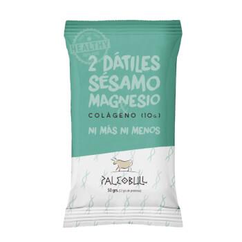 Paleobull Barrita con Colágeno y Magnesio son 100% naturales sin gluten ni lactosa.