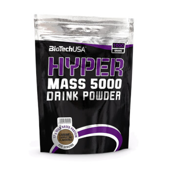 Hyper Mass 5000 de Biotech USA es un subidor de peso a base de proteínas y carbohidratos.
