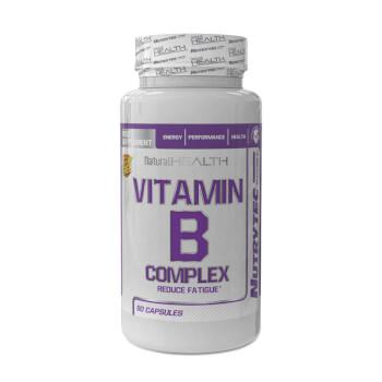 Disminuye el cansancio con Vitamin B Complex de la línea Natural Health.