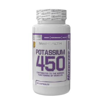 Regula el equilibrio hídrico con Potasio 450 de la línea Natural Health de Nutrytec.