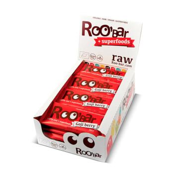 Roo'Bar Bayas de Goji son barritas 100% orgánicas.