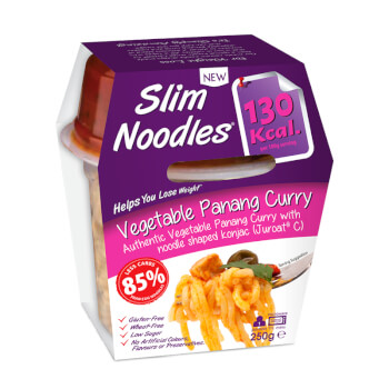 Slim Noodles Vegetable Panang Curry favorece la pérdida de peso.