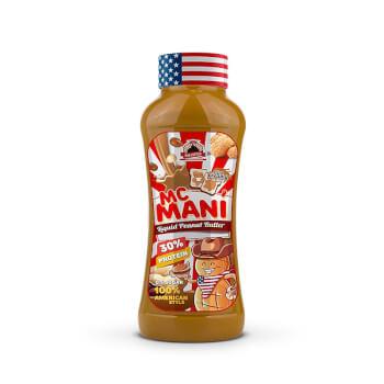 La Mantequilla de Cacahuete Mac Mani Liquid tiene una textura cremosa.