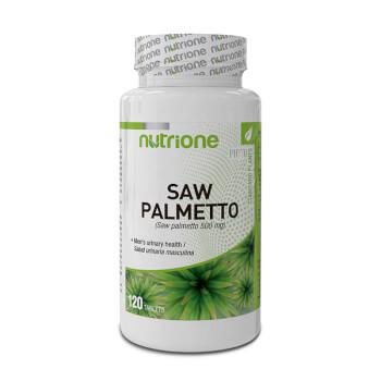 Saw Palmetto 500mg favorece el bienestar urinario.