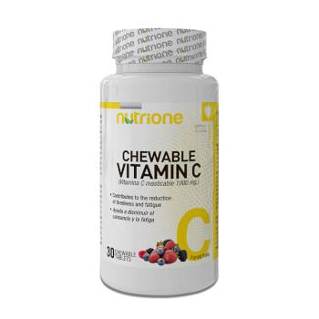 Vitamina C Masticable 1000mg favorece la reducción del cansancio y la fatiga.