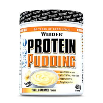 Pudding de Proteína de  Weider es un postre hiperproteico, bajo en grasas y azúcares.
