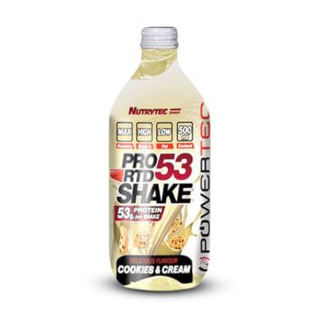 Pro53 RTD Shake (Powertec) de Nutrytec te aporta 53g de proteína.