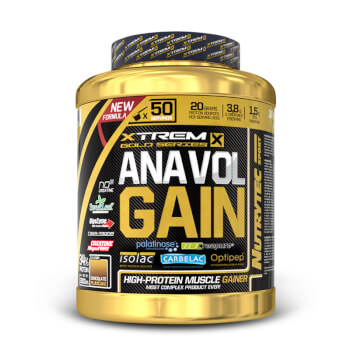 Anavol Gain (Xtrem Gold Series) de Nutrytec contribuye al aumento del volumen muscular.