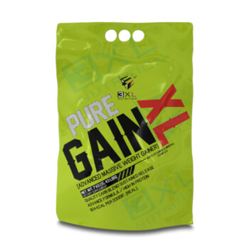 Pure Gain XL está formulada para aumentar peso y masa muscular.