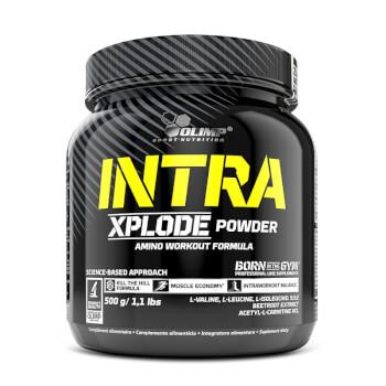 Intra Xplode Powder de Olimp ayuda a disminuir la fatiga durante el entrenamiento.