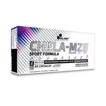 Chela-MZB Sport Formula contiene magnesio y zinc de alta disponibilidad.