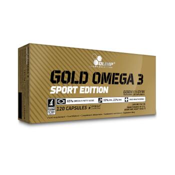 Gold Omega 3 Sport Edition se elabora a base de aceite de pescado.