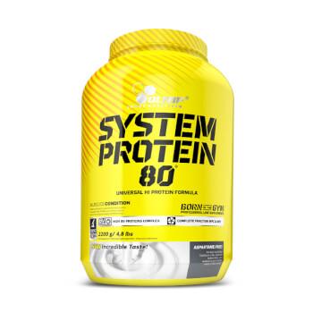 System Protein 80 de Olimp favorece la recuperación muscular.