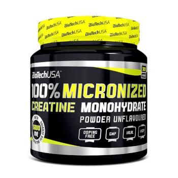 100% Creatina Monohidrato Micronizada es una creatina de grado farmacéutico.