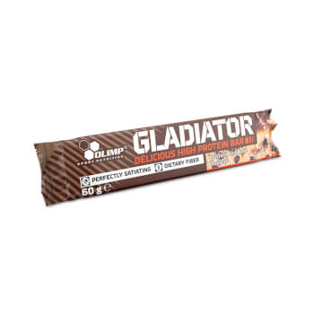 Cada barrita de Gladiator Bar contiene 21g de proteínas.
