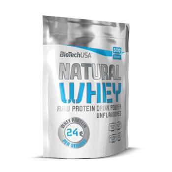 Natural Whey de Biotech USA es una proteína sin gluten y sabor neutro.