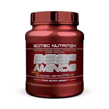 Beef Aminos proporciona péptidos de proteína bovina hidrolizada.