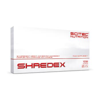 Shredex es una fórmula quemagrasas con cafeína.