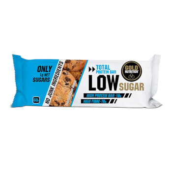 Total Protein Bar Low Sugar es una barrita proteica baja en azúcar.