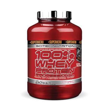 100% Whey Protein Professional + Superhero proteína de suero de alta eficacia.