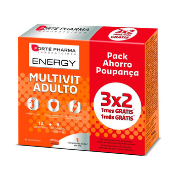 ENERGY MULTIVIT ADULTO 84 Tabs - FORTE PHARMA