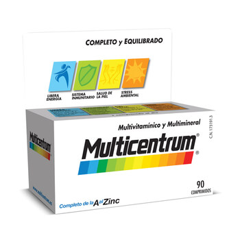 Vitaminas Multicentrum, 90 tabletas por solo 17,99€