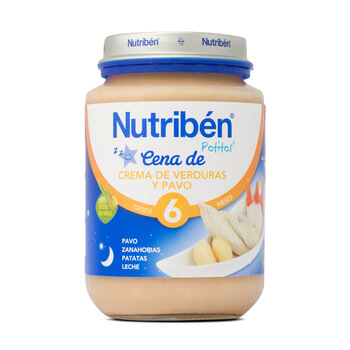 Potitos cena crema de verduras y pavo 200g nutriben - Cenas para bebes de 15 meses ...