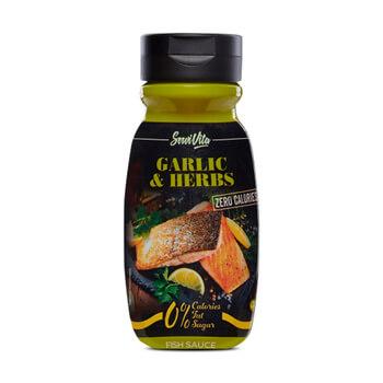 Salsa de ajo hierbas Servivita para comer sano