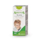 Arkotos Jarabe Niños calma la tos seca y alivia la garganta.